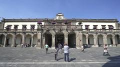 Chapultepec castle building, park - Mexico City, Mexico Stock Footage
