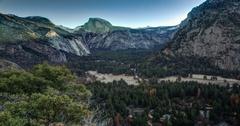 Yosemite Valley Sunrise Stock Footage