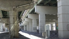 Gardiner Expressway infrastructure with sections showing decay and erosion Stock Footage