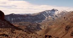 Epic View On Snowy Mountain Range, Morocco Stock Footage
