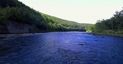 Aerial Footage of the Delaware River, United States Stock Footage