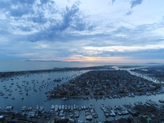 4K Balboa Island and Newport Beach, Southern California Stock Footage