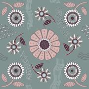 Seamless vector floral pattern. Stock Illustration