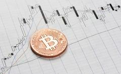 Cryptocurrency. bitcoin coin Kuvituskuvat
