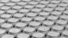 Tightly Packed Aray of Blank Aluminium Cans Stock Illustration
