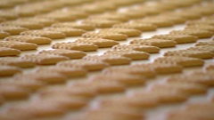 Cookies in the confectionery shop. Stock Footage