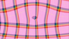 Pink and rainbow colours tartan ripples effect Stock Footage
