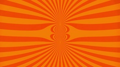 Orange beam background ripples effect Stock Footage