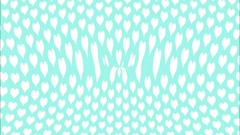 White love hearts on a blue background ripples Stock Footage