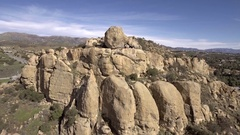Stoney Point Outcroppings Aerial Flyaround Stock Footage