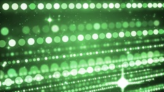Glittering green particle background. Stock Footage