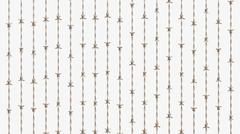 Ordered Array of Copper Barbed Arranged Vertically Parallel Stock Illustration