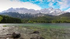 Zugspitze mountain timelapse, Garmisch Partenkirchen, Germany, HD Time lapse Stock Footage