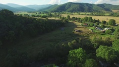 Slow rise above Mitta Mitta Valley near Eskdale, Victoria take2 Stock Footage