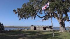 POV, Fort Frederica, St Simons Island, Georgia, USA Stock Footage