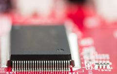 Processor chip on computer mainboard Kuvituskuvat