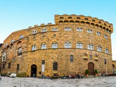Palazzo Vecchio is town hall of Florence, Italy Stock Photos