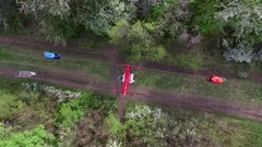 Cableway in Kharkiv Gorky park Stock Footage