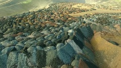 Multicolored rock dumps from quarries Stock Footage