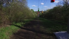 Cableway in park, Stock Footage