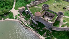 Old fortress in Belgorod-Dniester, Ukraine Stock Footage