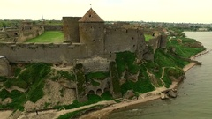 Beautiful view on Akkerman fortress in Belgorod-Dniester, Ukraine Stock Footage