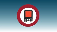 Hazardous Cargo Prohibited Stock Footage