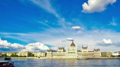 Hungarian Parliament Building in Budapest, Hungary Stock Footage