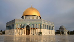 Dome of the Rock , Jerusalem, Israel, Asia  Stock Footage