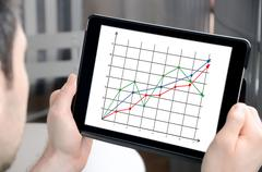 Business analysis concept on a tablet Stock Photos