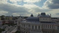 Odessa Opera House in Ukraine, aerial view Stock Footage