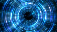 Rotate hyper jump in time concept blue loop cycle background Stock Footage