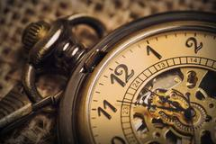 Vintage Old Pocket watch Stock Photos