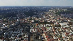 The panorama of Lviv from the height of bird flight Stock Footage