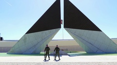 Monument to Overseas Combatants, Lisbon, Portugal Stock Footage