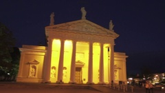 Cathedral of Vilnius of Lithuania Stock Footage