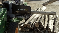 Making wood chips Stock Footage