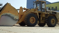 Overview of a front loader, footage for and advertising Stock Footage