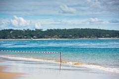 Sand Atlantic beach, France Stock Photos