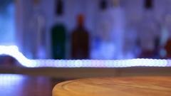 Hiroshima alcoholic cocktail, bomber shot, close up, moving camera Stock Footage