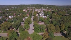 Fly by of Beaver, Pennsylvania in Summer Stock Footage