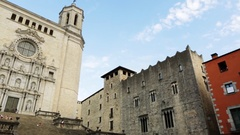 Girona Cathedral. Spain. Stock Footage