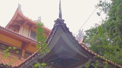 Long Son pagoda in Nha Trang, Vietnam. Stock Footage