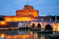 The Mausoleum of Hadrian (Castel Sant'Angelo) in Rome Stock Photos