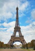 Cityscape of Paris with the Eiffel tower Stock Photos