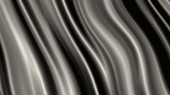 Slow Grey Silk Waves  -   Abstract Looping Video Footage Stock Footage