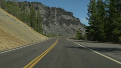 Driving towards Mt. Bachelor, near Bend, Oregon Stock Footage