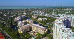Scenic aerial video Key Biscayne Stock Footage