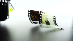 Slow Motion Color Film frames Close Up falling Stock Footage