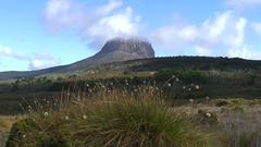 Tasmania alpine mountain landscape Stock Footage